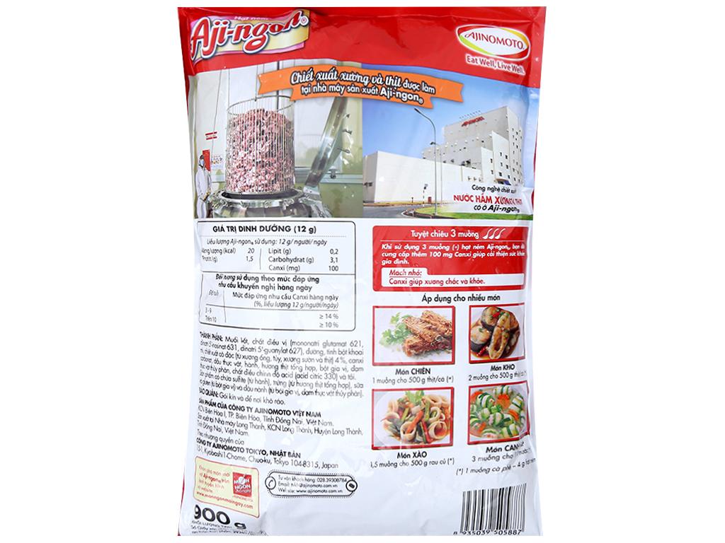 Hạt nêm Xương, thịt heo Aji-ngon gói 900g 2