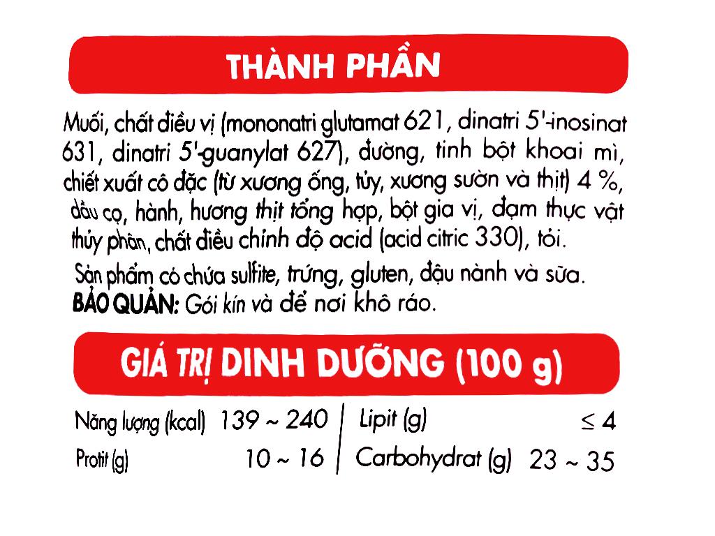 Hạt nêm Aji-ngon vị heo gói 900g 7