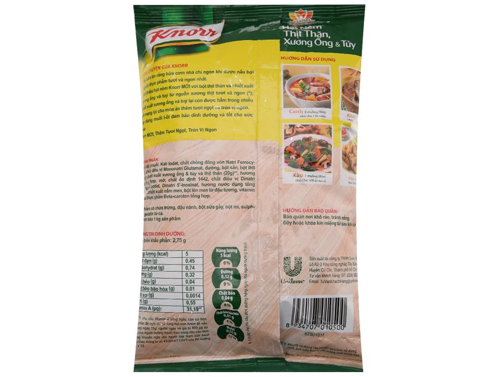 Hạt nêm Thịt thăn, xương ống, tủy Knorr gói 900g 2