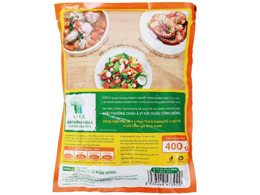 Hạt nêm thịt và xương 3 Miền gói 400g 2
