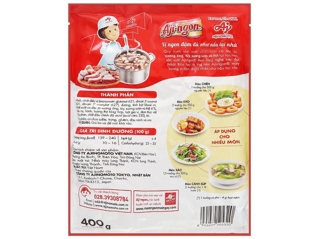 Hạt nêm xương, thịt heo Aji-ngon gói 400g 2