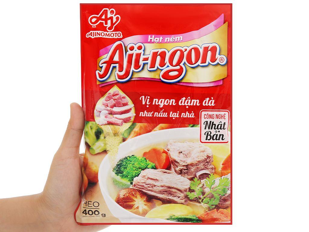 Hạt nêm xương, thịt heo Aji-ngon gói 400g 4
