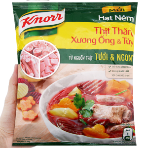 Hạt nêm thịt thăn, xương ống, tủy Knorr gói 400g