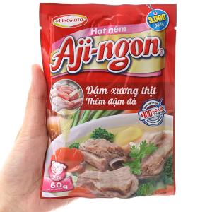 Hạt nêm xương, thịt heo Aji-ngon gói 60g