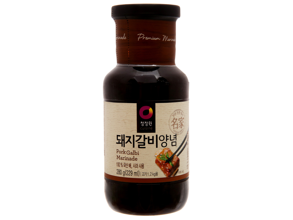 Sốt ướp sườn heo Chung Jung One chai 280g 1