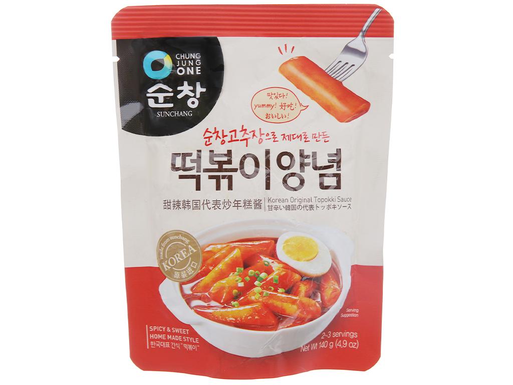 Sốt nấu Tokbokki Chung Jung One gói 140g 1