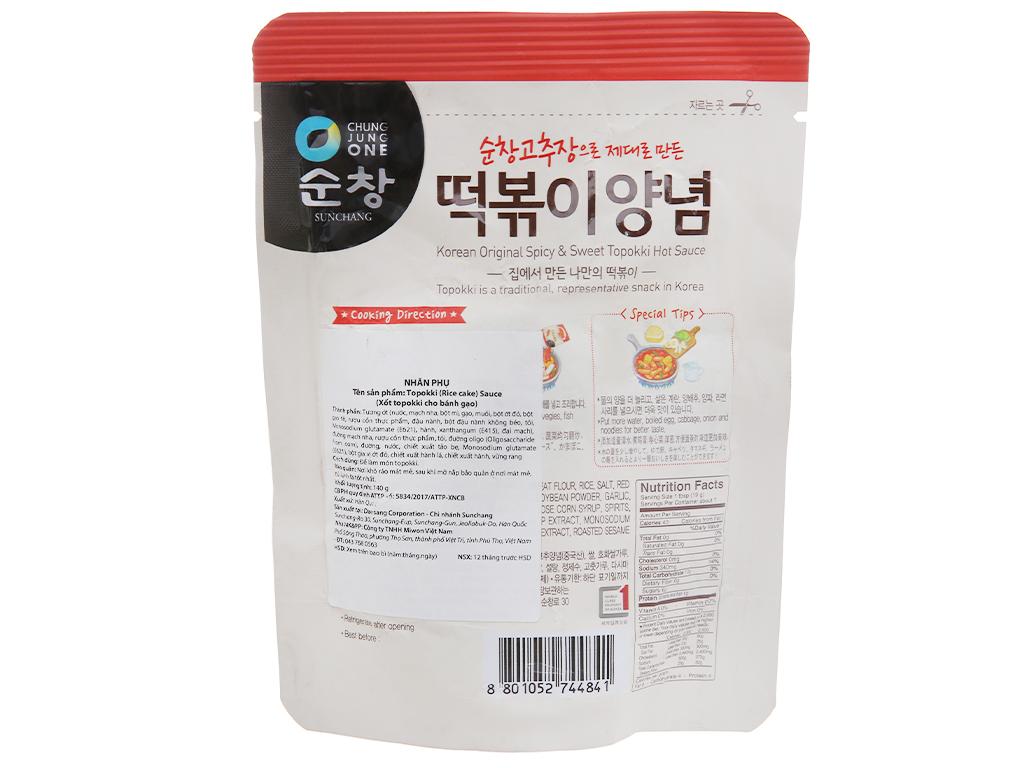 Sốt nấu Tokbokki Chung Jung One gói 140g 2