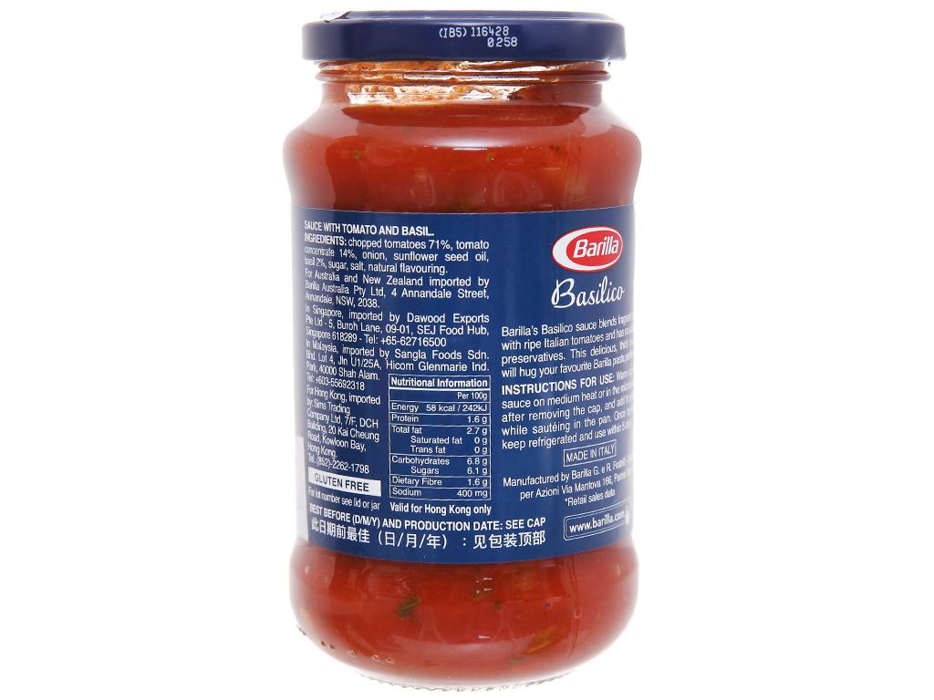 Sốt cà chua Barilla hũ 400g 2