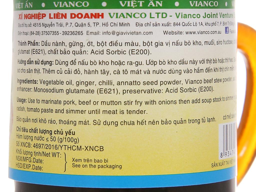 Tương dầu nấu bò kho Vianco ly 50g 5