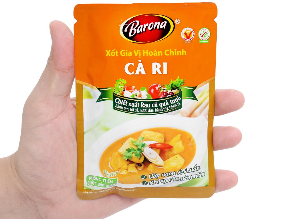 Xốt gia vị hoàn chỉnh cà ri Barona gói 80g 9