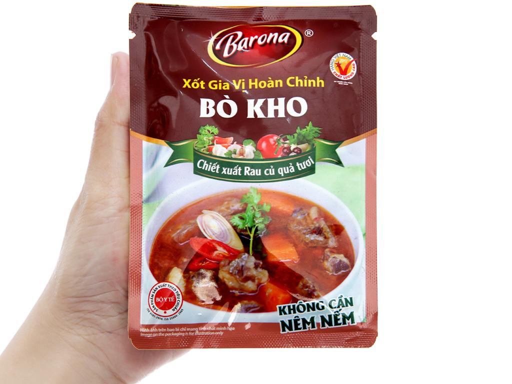 Xốt gia vị hoàn chỉnh bò kho Barona gói 80g 4