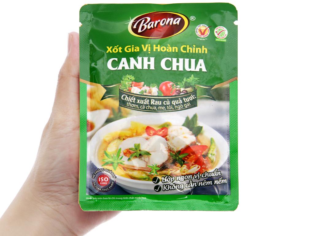 Xốt gia vị hoàn chỉnh nấu canh chua Barona gói 80g 3