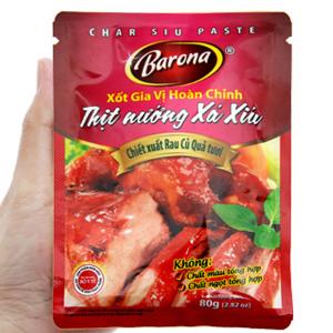 Xốt gia vị hoàn chỉnh ướp thịt nướng xá xíu Barona gói 80g