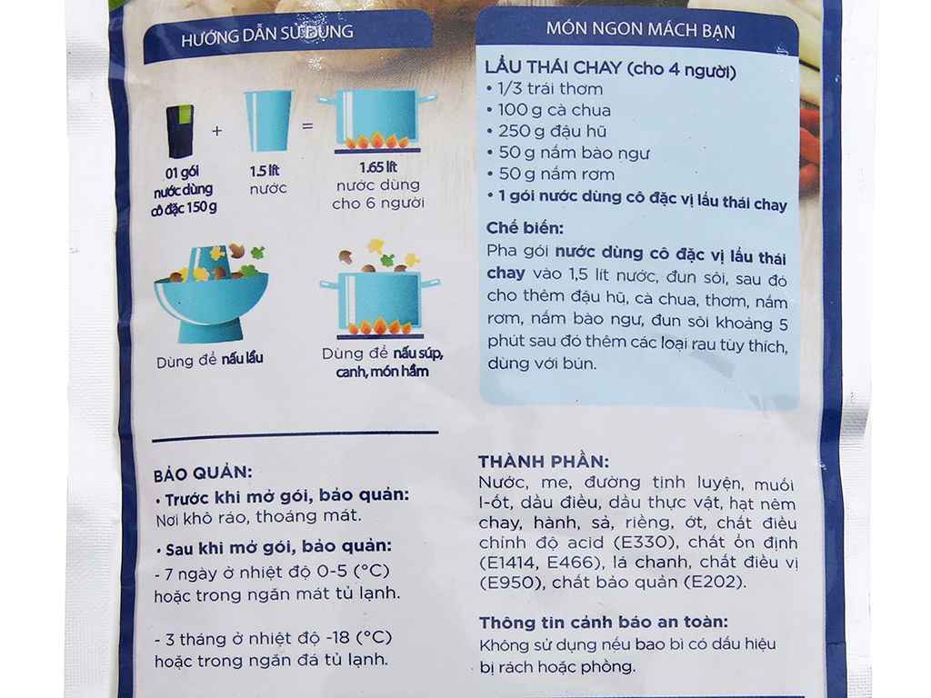 Nước dùng cô đặc lẩu Thái chay SG Food gói 150g 5