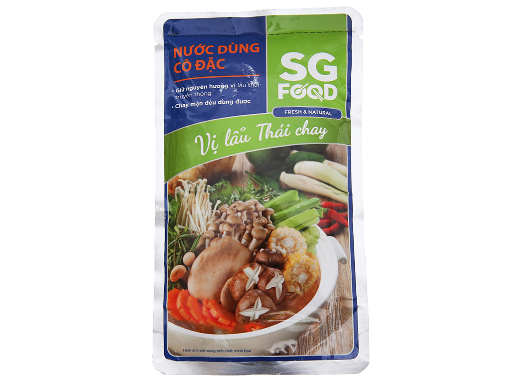 Nước dùng cô đặc lẩu Thái chay SG Food gói 150g 1