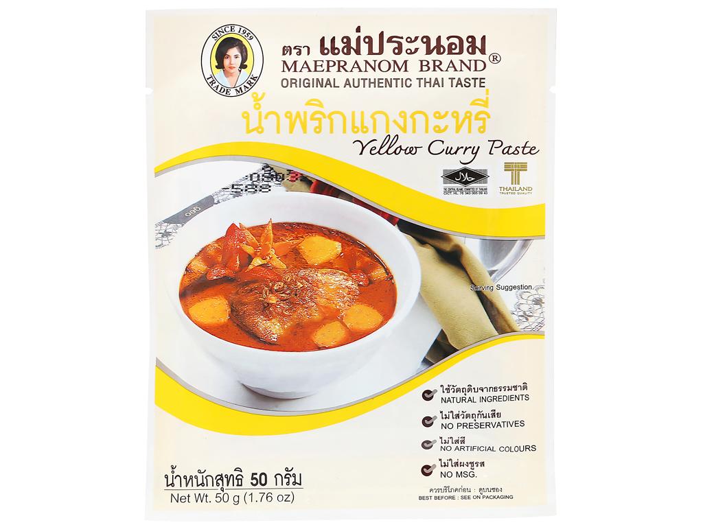 Gia vị cà ri vàng MaePranom gói 50g 6