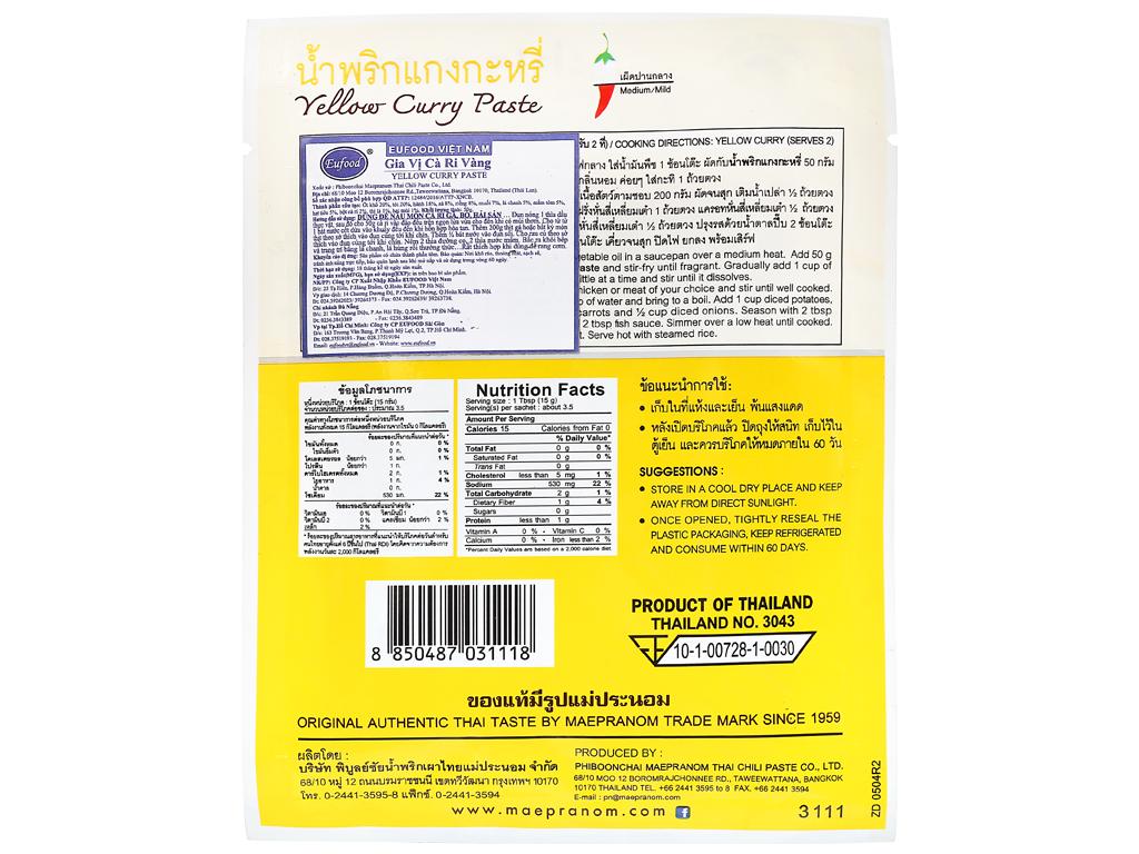 Gia vị cà ri vàng MaePranom gói 50g 7