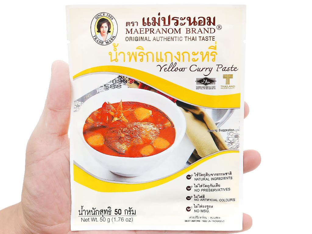 Gia vị cà ri vàng MaePranom gói 50g 10