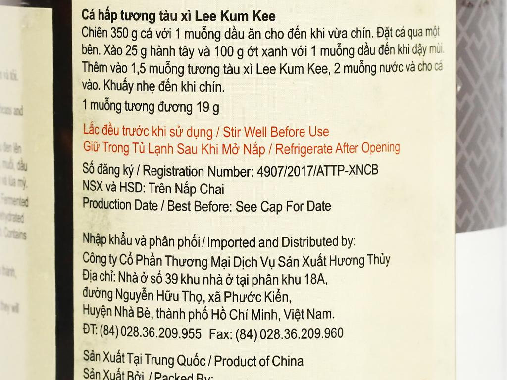 Tương tàu xì Lee Kum Kee hũ 226g 8