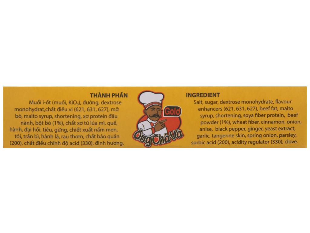 Viên gia vị nấu phở bò Ông Chà Và Gold hộp 96g (6 viên) 5