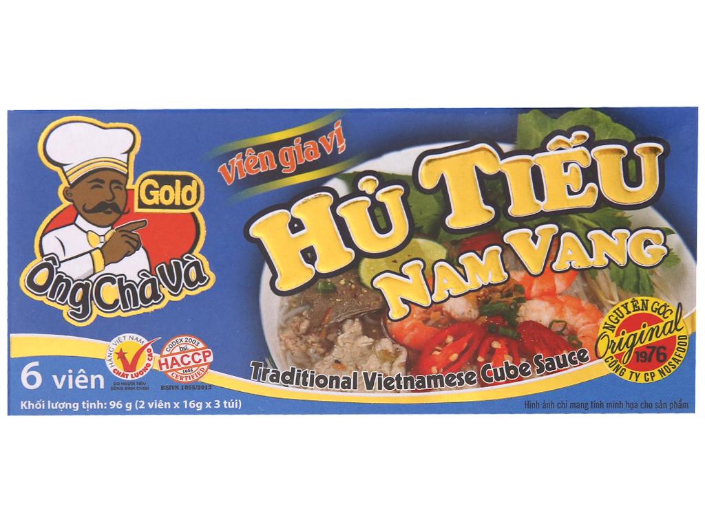 Viên gia vị nấu hủ tiếu Nam Vang Ông Chà Và Gold hộp 96g (6 viên) 1