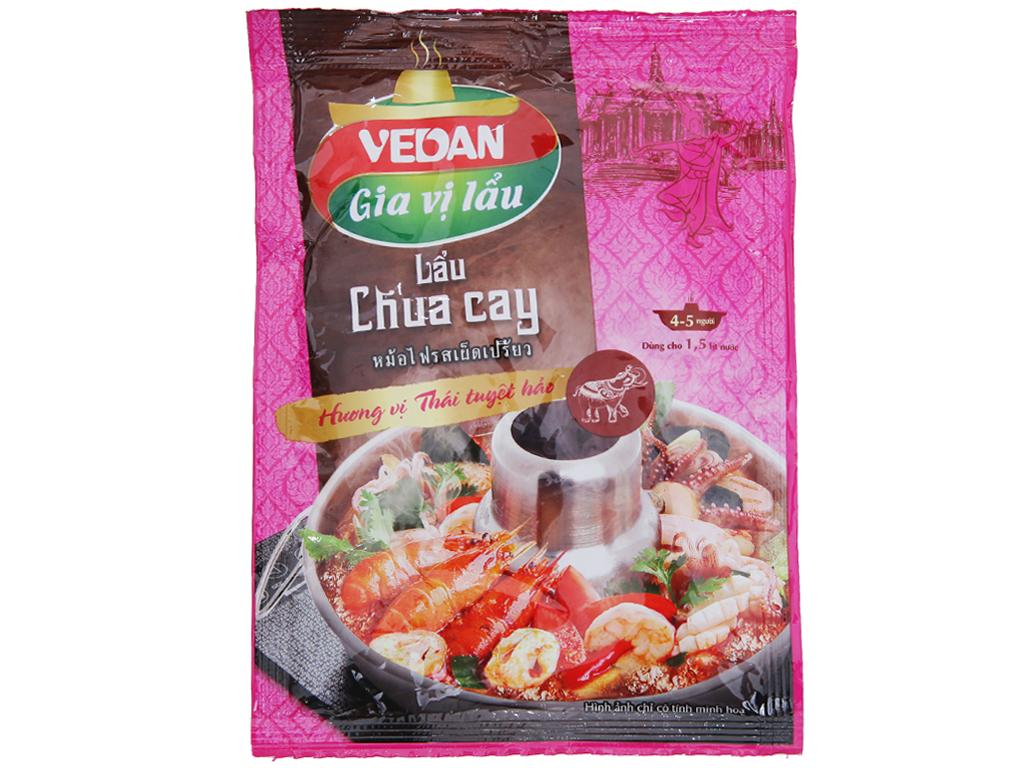 Gia vị nấu lẩu chua cay hương vị Thái Vedan gói 55g 1
