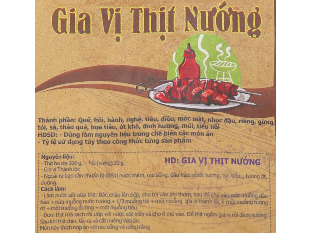 Gia vị thịt nướng Thành Lộc gói 20g 5
