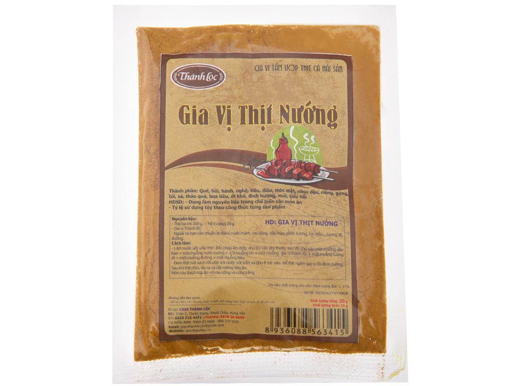 Gia vị thịt nướng Thành Lộc gói 20g 1