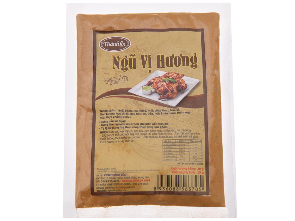 Bột ngũ vị hương Thành Lộc gói 20g 1