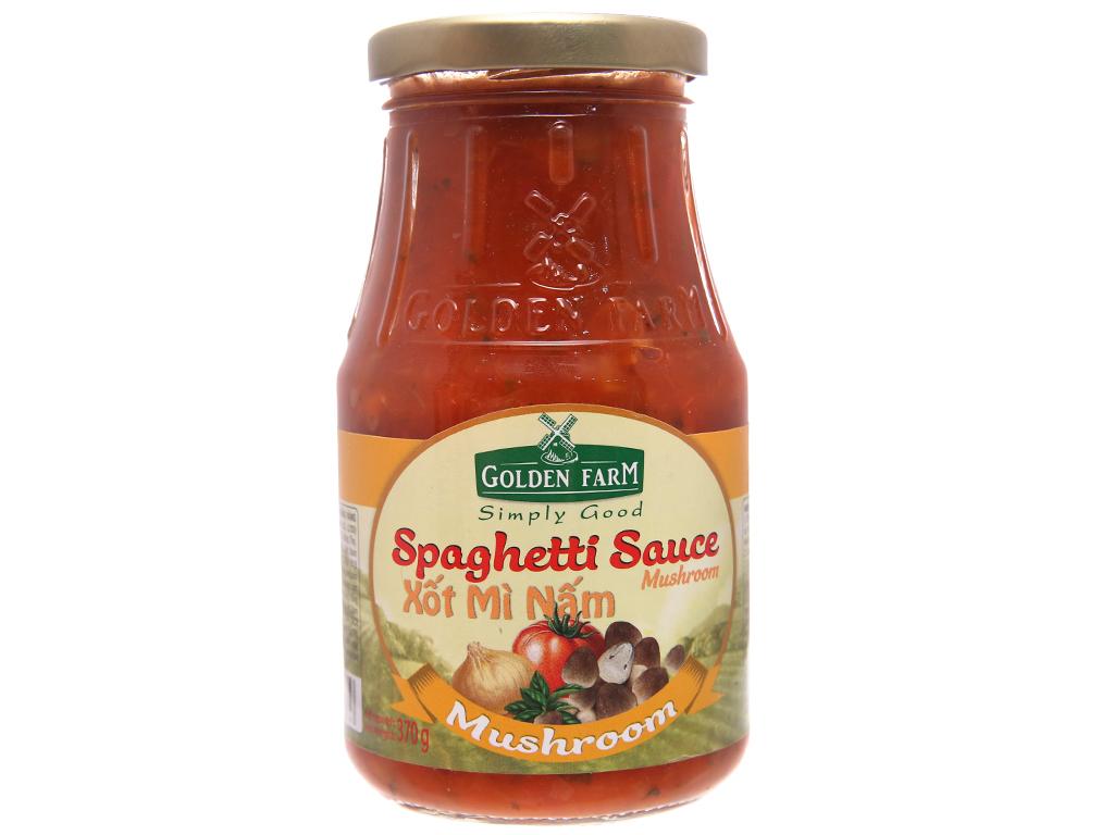 Xốt mì nấm Spaghetti Golden Farm hũ 370g 1
