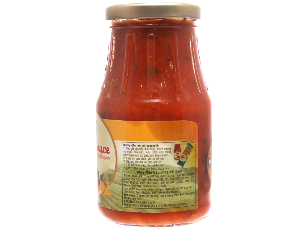 Xốt mì nấm Spaghetti Golden Farm hũ 370g 2