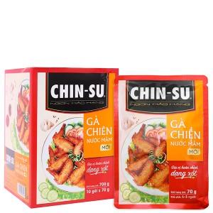 Gia vị hoàn chỉnh dạng xốt gà chiên nước mắm Chinsu hộp 700g (10 gói x 70g)
