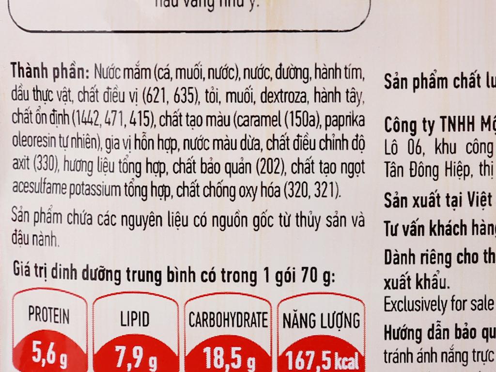 Gia vị hoàn chỉnh dạng xốt thịt kho trứng Chinsu gói 70g 5