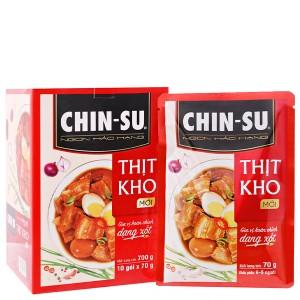 Gia vị hoàn chỉnh dạng xốt thịt kho trứng Chinsu hộp 700g (10 gói x 70g)