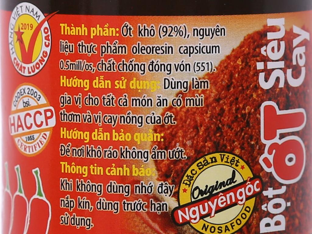 Bột ớt siêu cay Ông Chà Và hũ 40g 3
