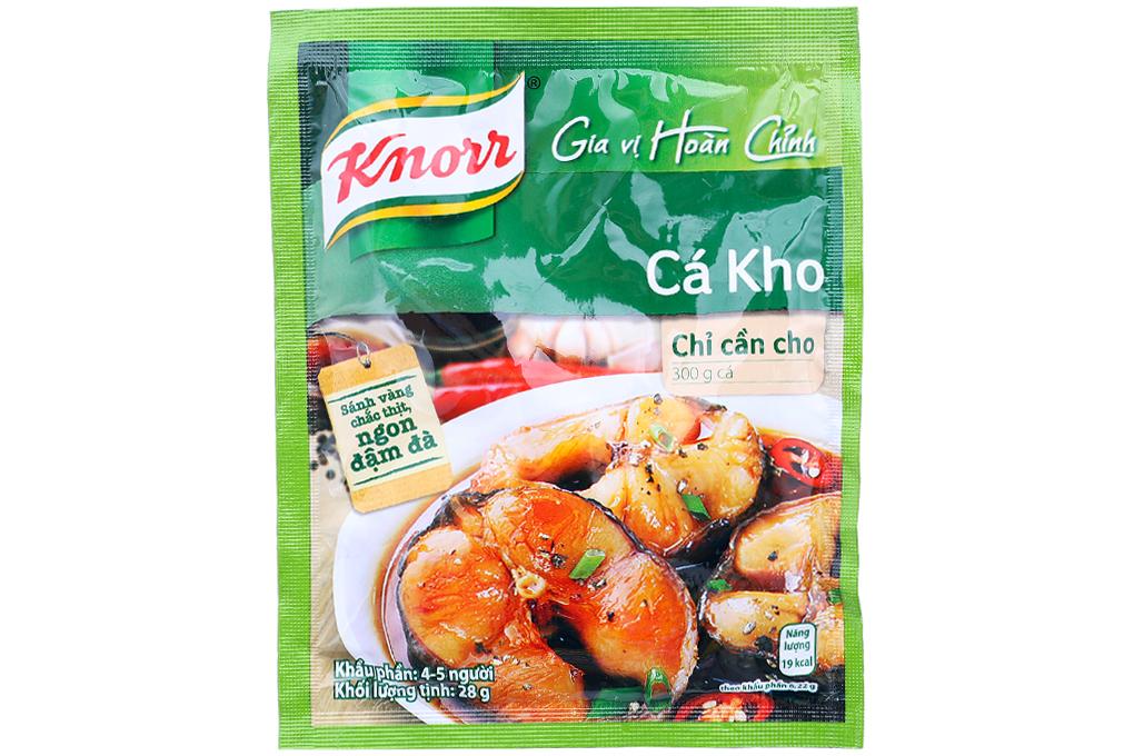 Gia vị Cá Kho Knorr gói 28g