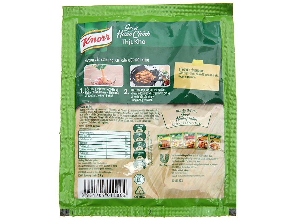 Gia vị hoàn chỉnh kho thịt Knorr gói 28g 2
