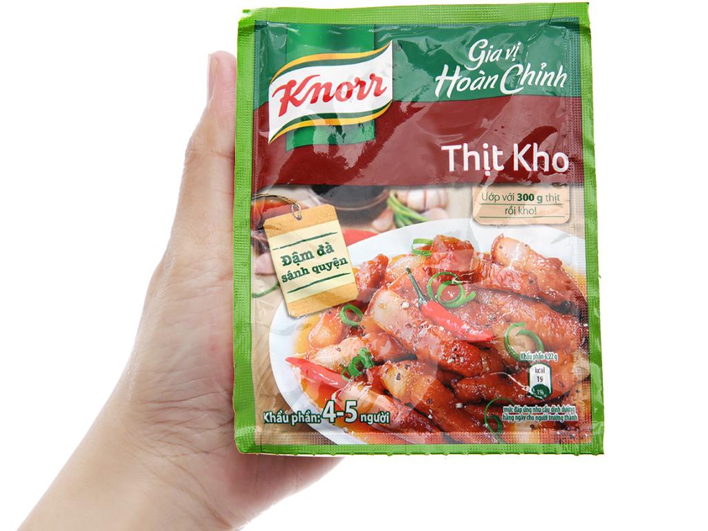 Gia vị hoàn chỉnh kho thịt Knorr gói 28g 3