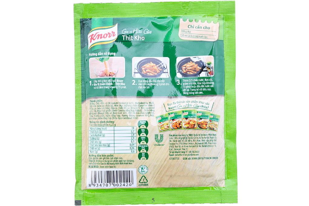 Gia vị Thịt Kho Knorr gói 28g