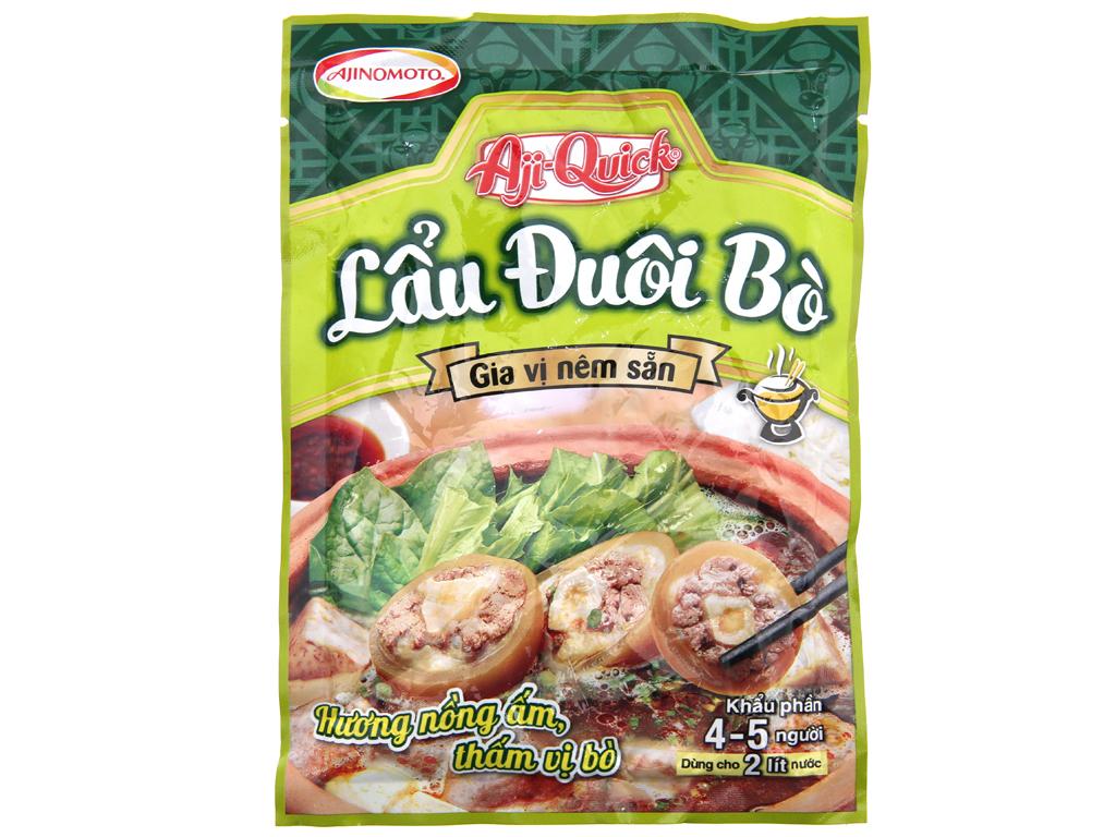 Gia vị nêm sẵn nấu lẩu đuôi bò Aji-Quick gói 40g 1