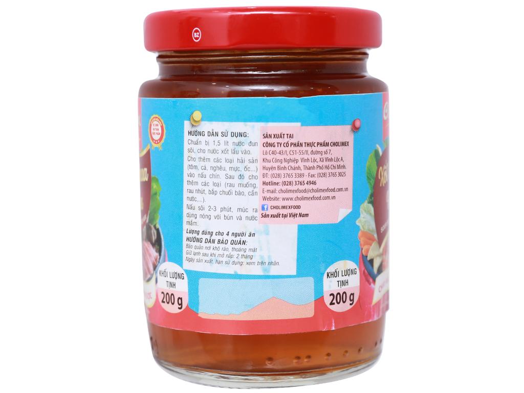 Xốt lẩu chua hải sản Cholimex hũ 200g 3