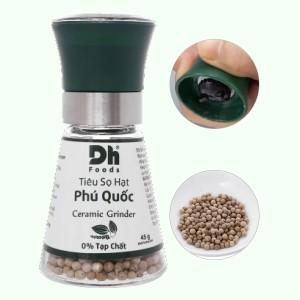 Tiêu sọ hạt Phú Quốc có nắp xay DH Foods hũ 45g
