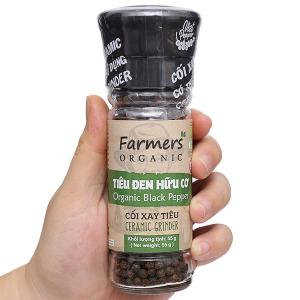 Tiêu đen hữu cơ Farmers Organic hũ 55g