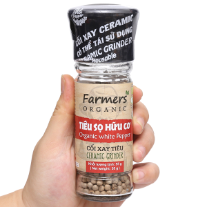Tiêu sọ hữu cơ Farmers' Organic Vipep hũ 55g