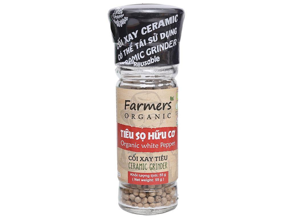 Tiêu sọ hữu cơ Farmers Organic hũ 55g 1