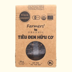 Tiêu đen hữu cơ Farmers Organic túi 50g