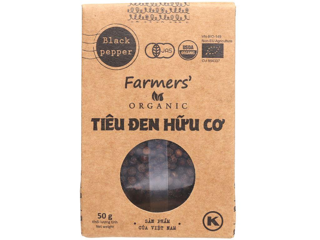 Tiêu đen hữu cơ Farmers Organic túi 50g 1