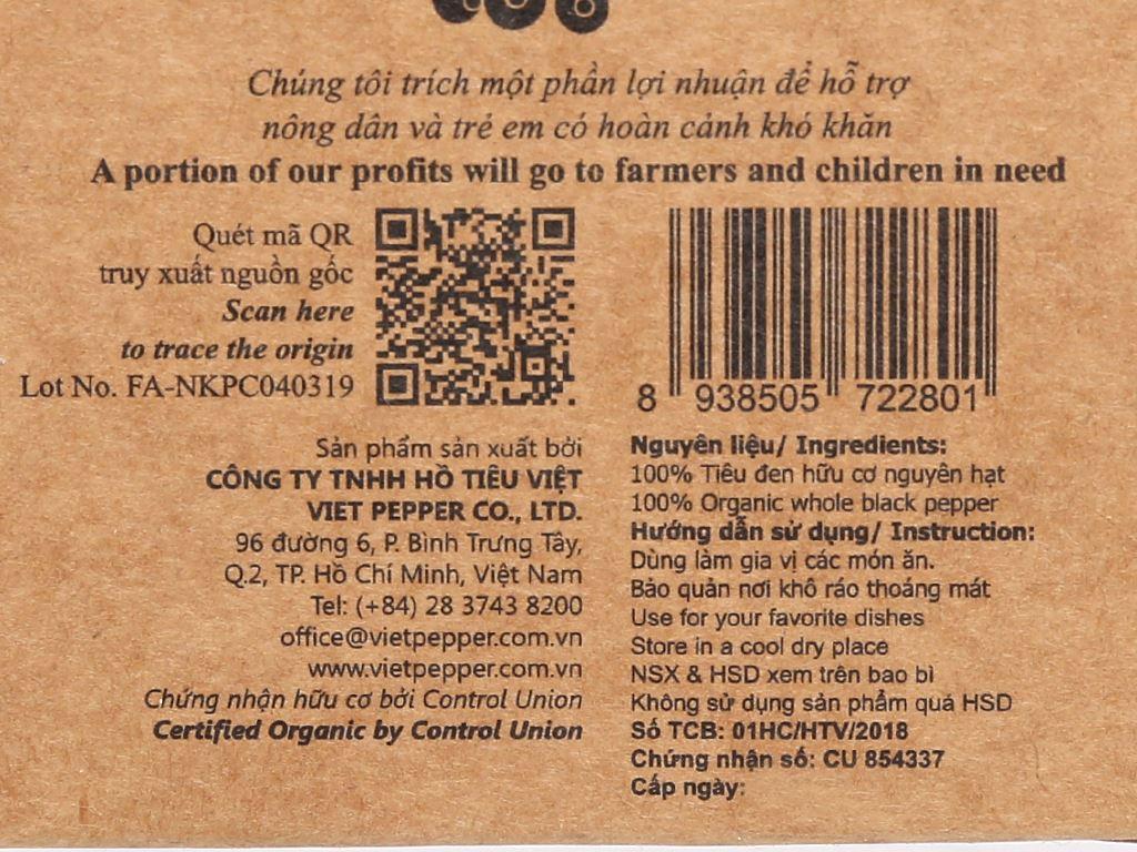 Tiêu đen hữu cơ Farmers Organic túi 50g 3