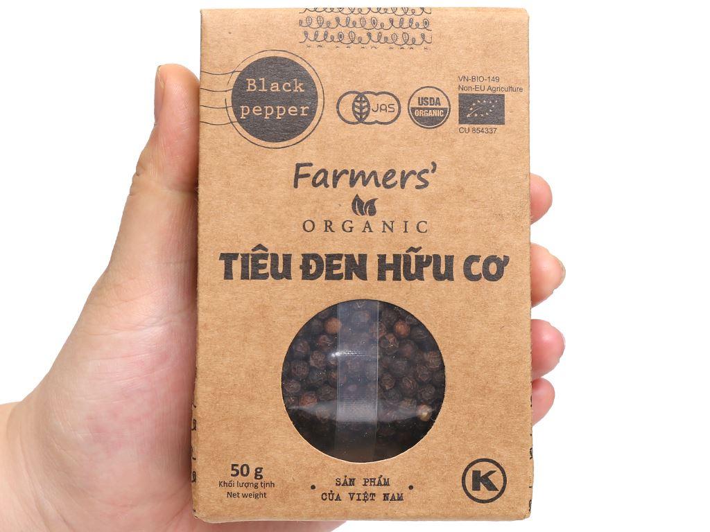 Tiêu đen hữu cơ Farmers Organic túi 50g 4