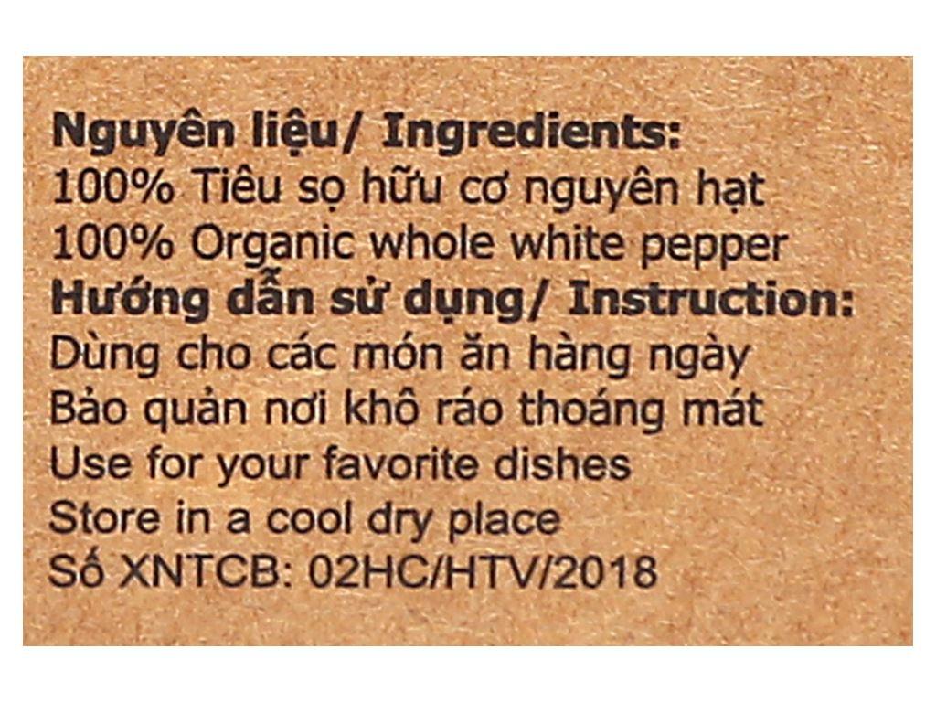 Tiêu sọ hữu cơ Farmers Organic túi 50g 3